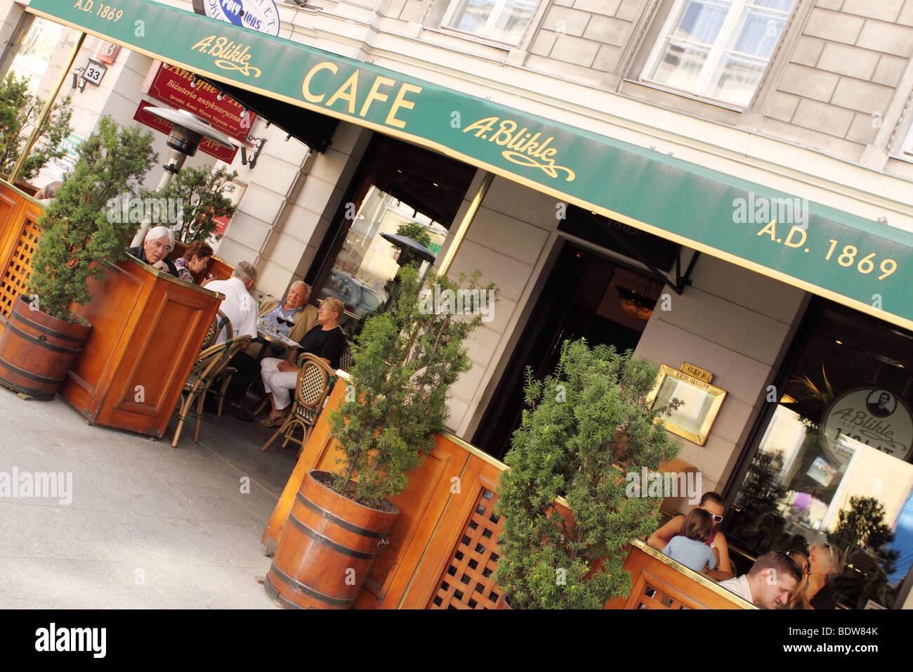 Warsaw the A Blikle cafe and cake house on Ul Ulica Nowy Swiat Warsaw Poland - Stock Image
