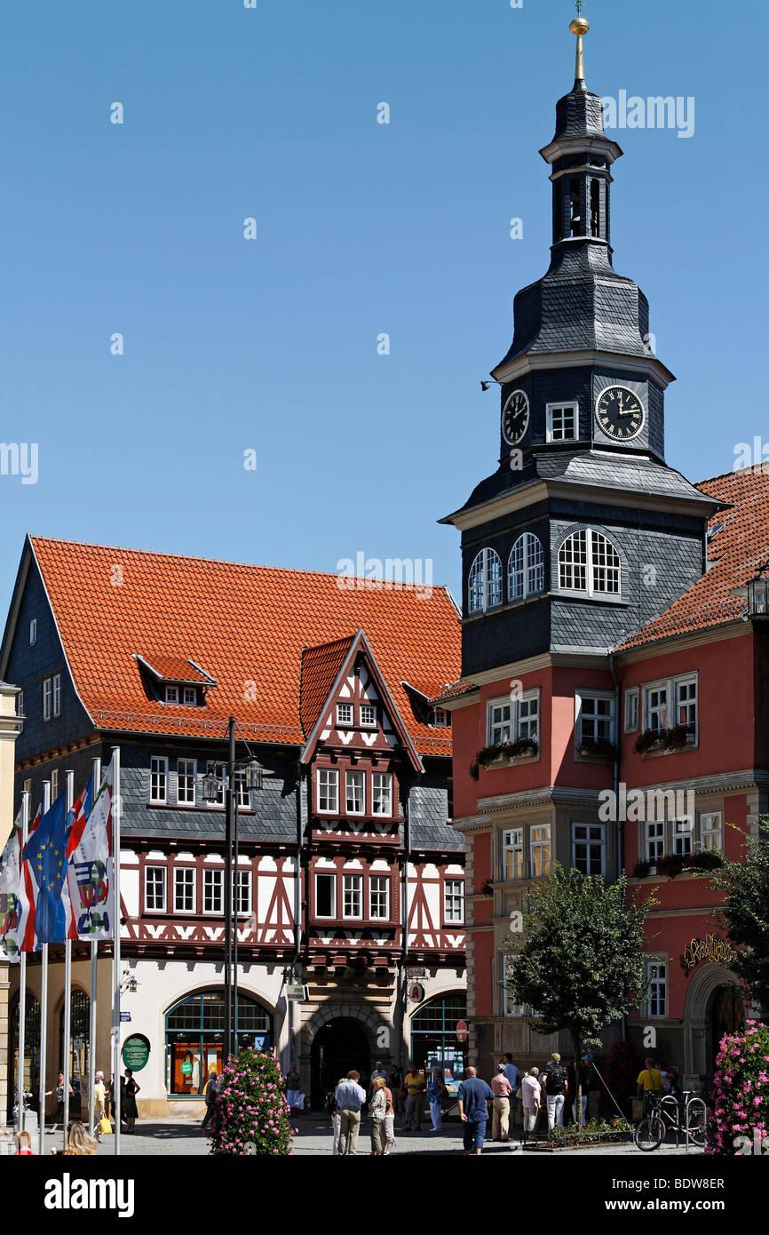 Historic city hall, Eisenach, Thuringia, Germany, Europe - Stock Image