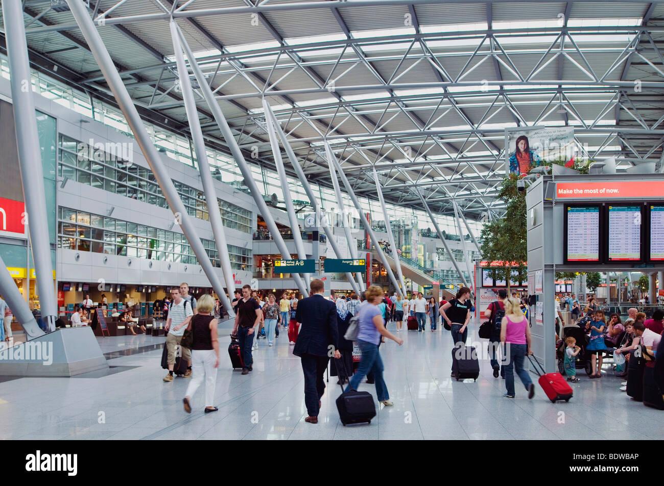 Dusseldorf International Airport, hall, North Rhine-Westphalia, Germany, Europe - Stock Image