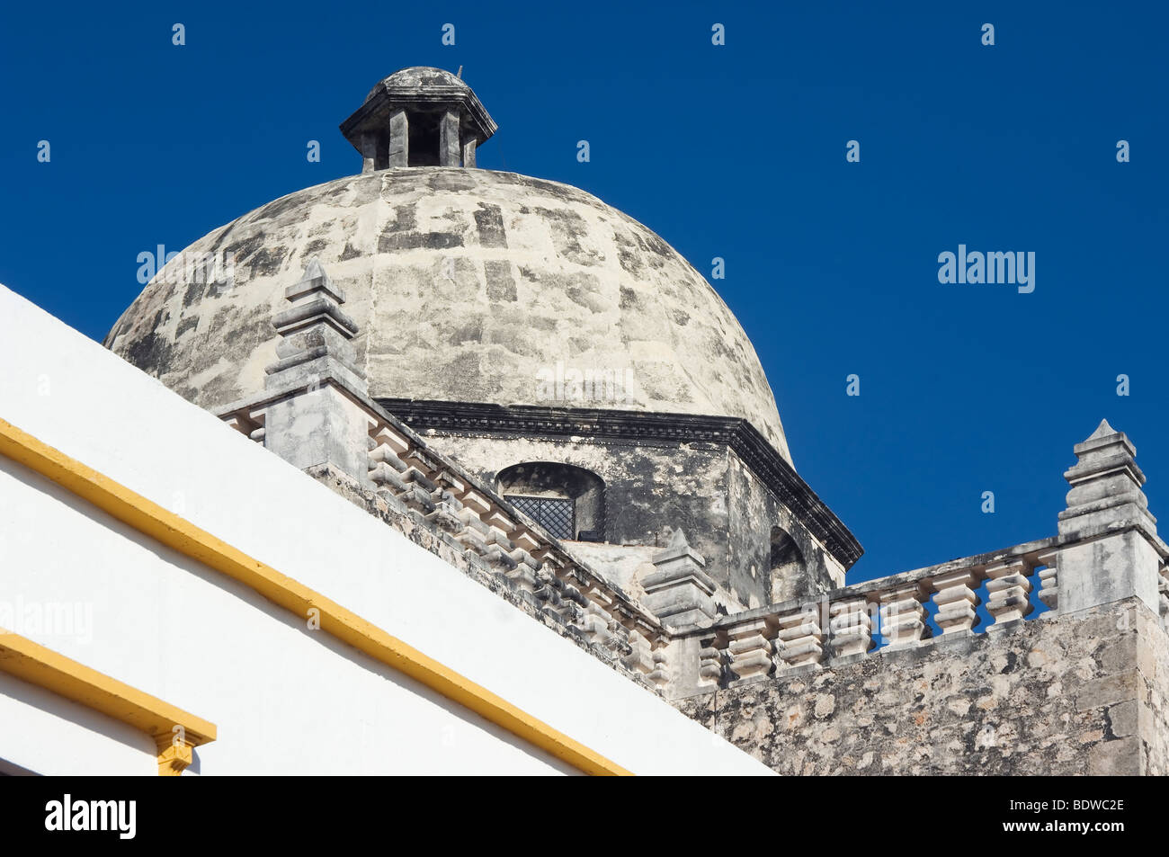Campeche, San Jose church, Dome, Province of Campeche, Yucatan peninsula, Mexico Stock Photo
