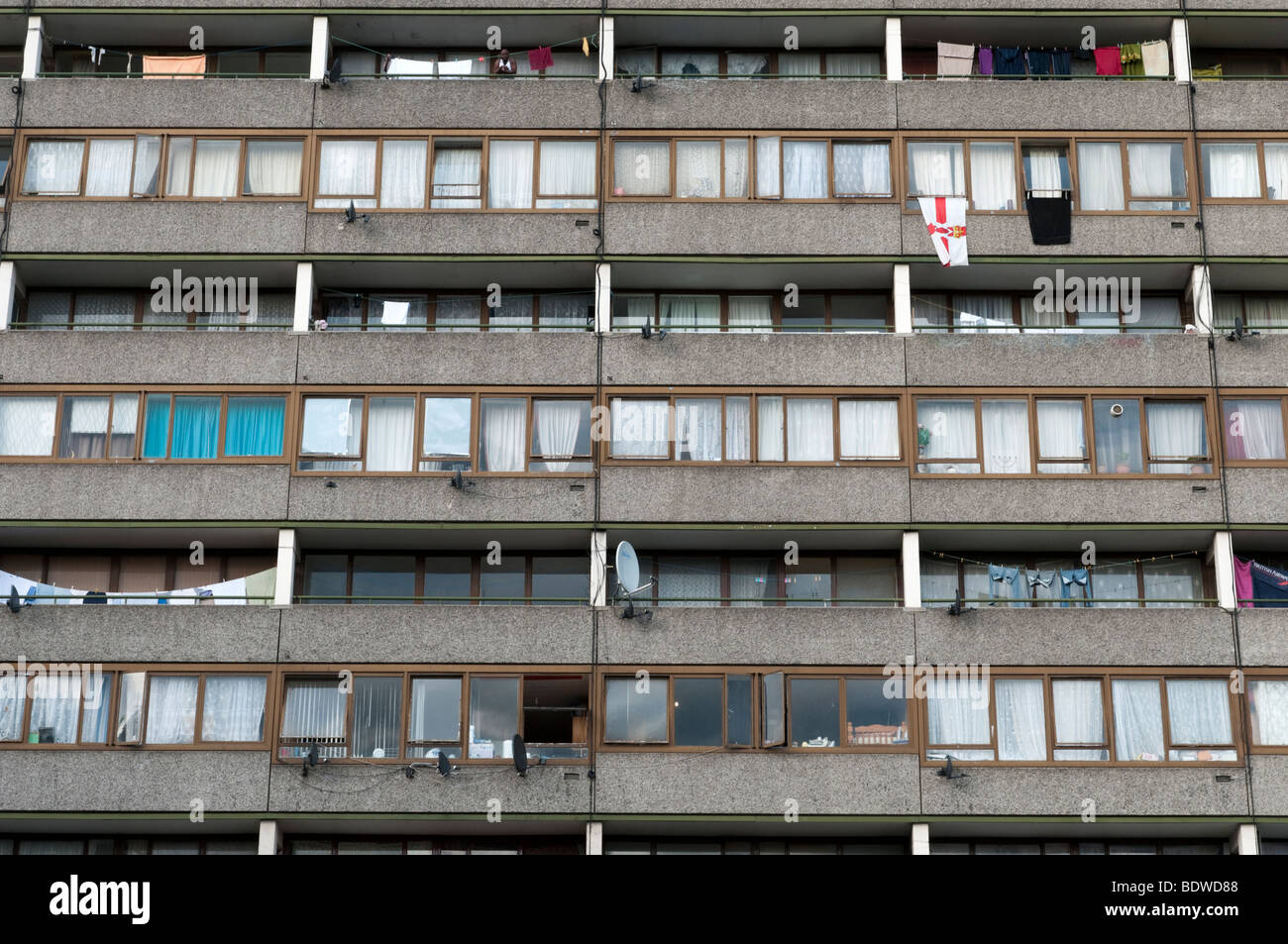 Council flats in South London, England, UK - Stock Image