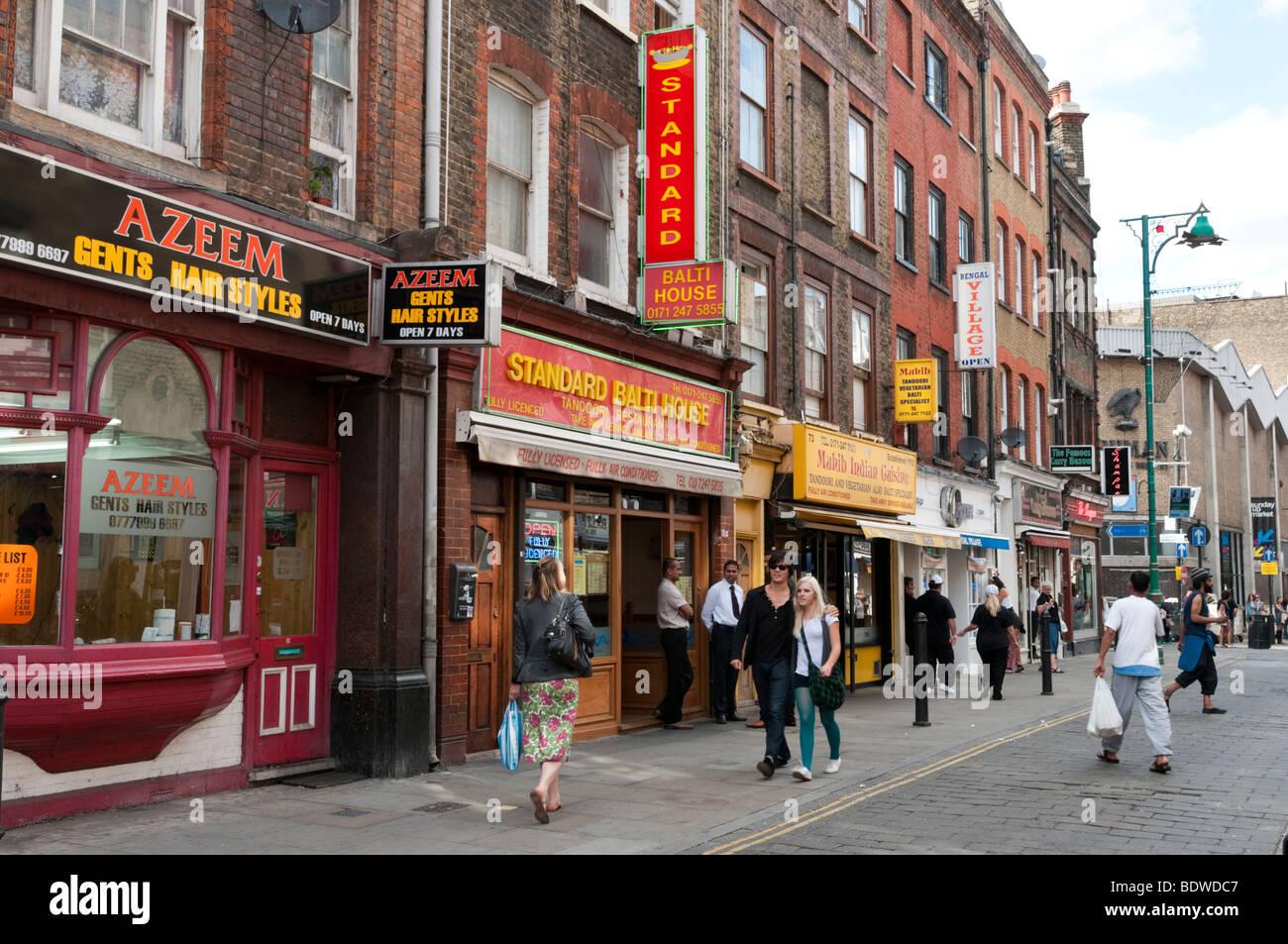 Brick Lane, Tower Hamlets, London, England, UK - Stock Image