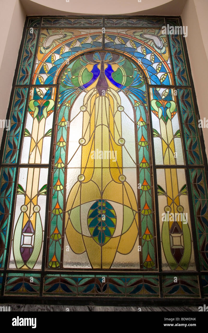 Art Nouveau Stained Glass Stock Photos & Art Nouveau Stained Glass ...