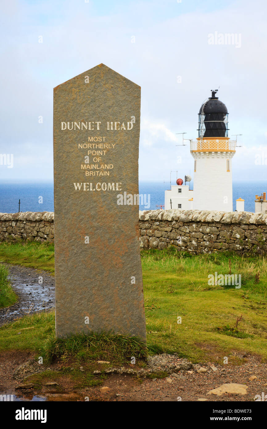 Dunnet Head lighthouse, Thurso, Caithness, Scotland - Stock Image