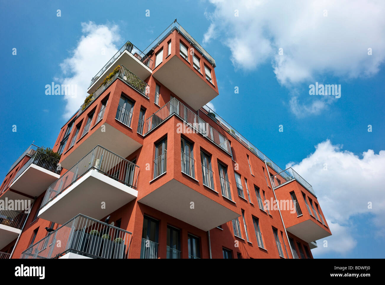 Luxurious owner-occupied flats in the West Port, Frankfurt, Hesse, Germany, Europe - Stock Image