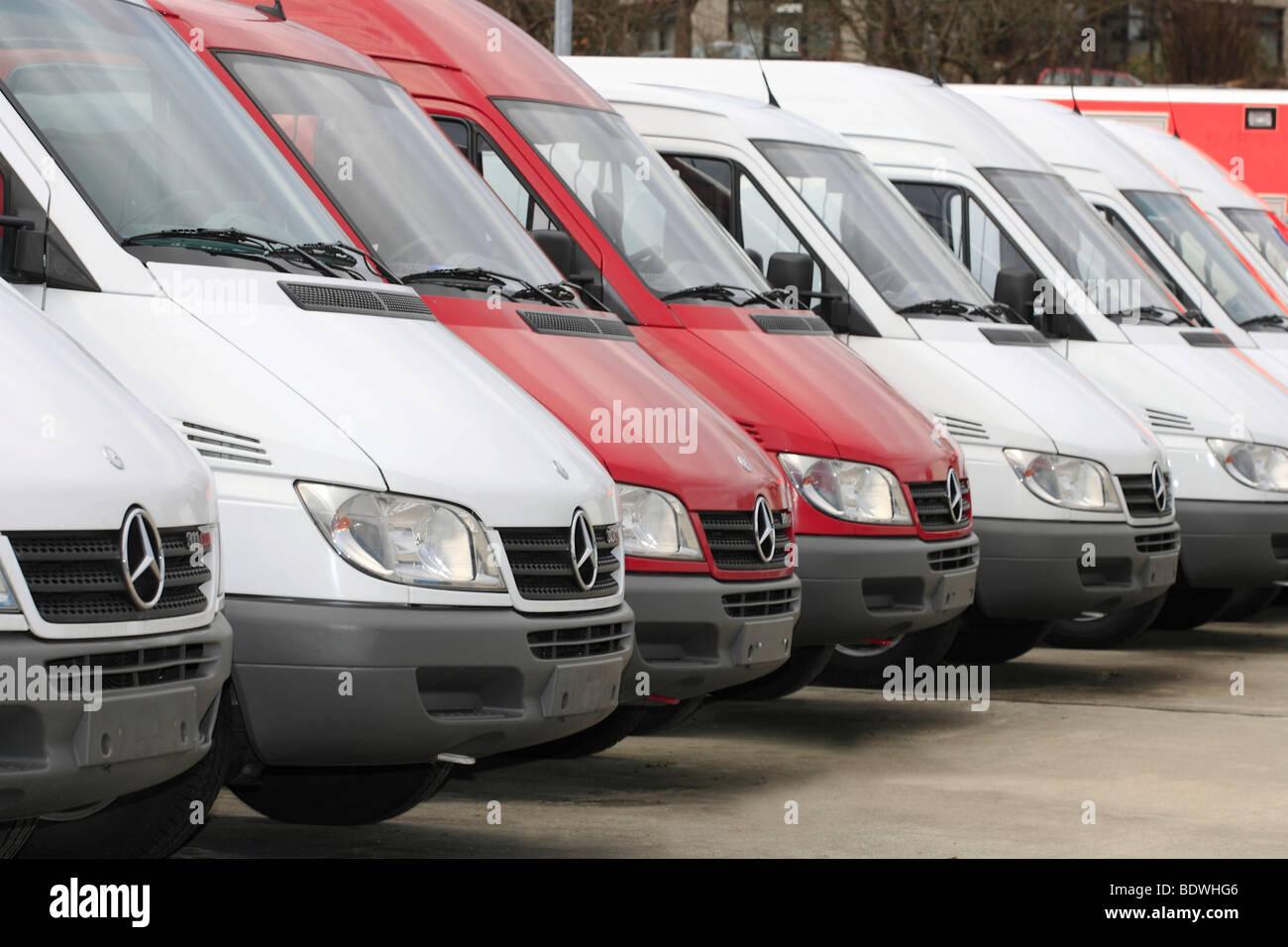 Vans for sale - Stock Image