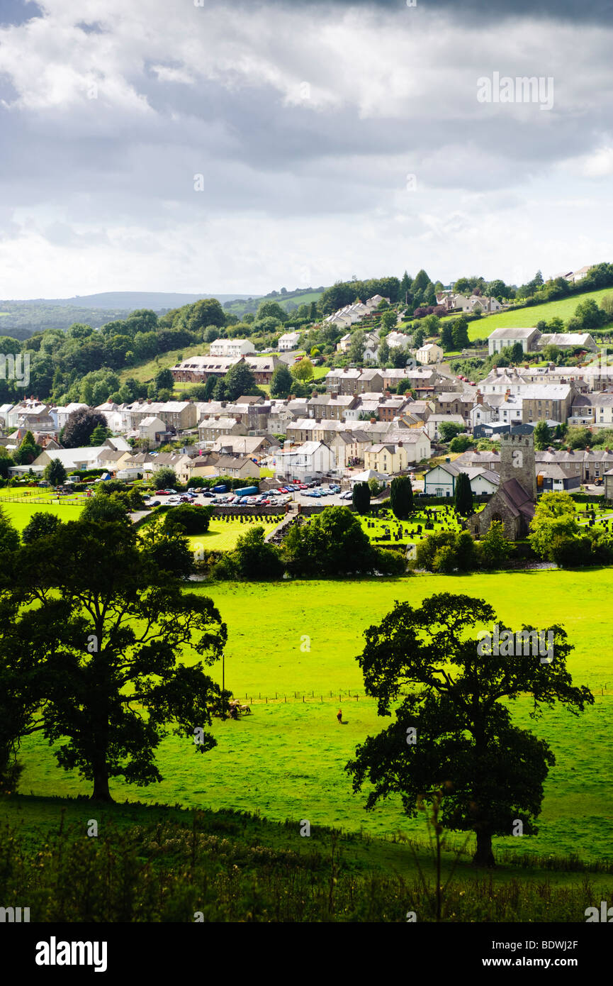 Llandysul town in the Teifi valley, Ceredigion, Wales UK Stock Photo