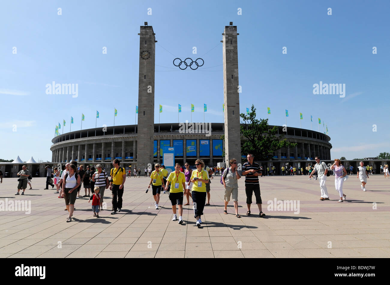 Olympic Stadium, 12th IAAF World Championships in Athletics 2009, the federal capital, Berlin, Germany, Europe - Stock Image