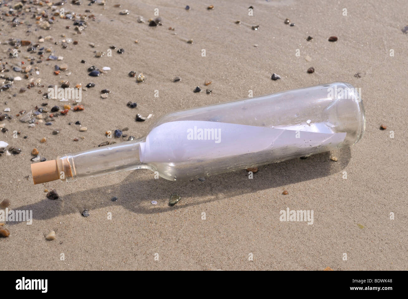 Message in a bottle - Stock Image