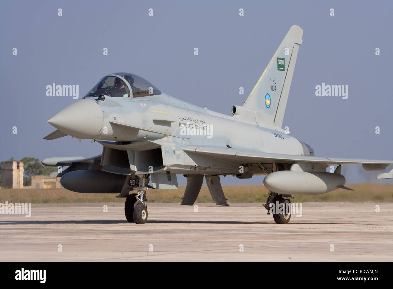 Modern military aviation. Royal Saudi Air Force Eurofighter Typhoon jet fighter aircraft - Stock Image