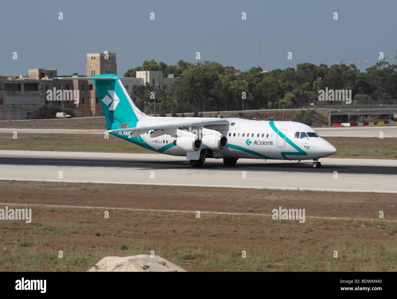 Air Dolomiti BAe 146 on departure - Stock Image