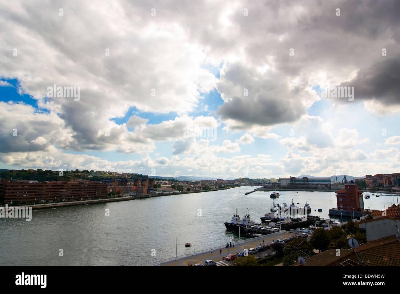 Sky of Bilbao - Stock Image