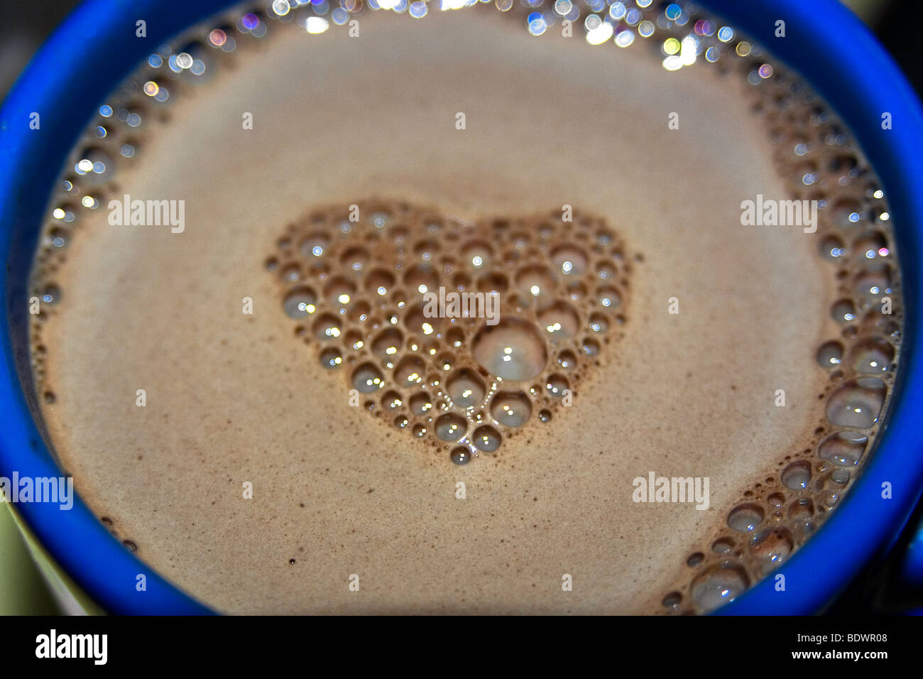 Cafe-au-lait with a heart Stock Photo