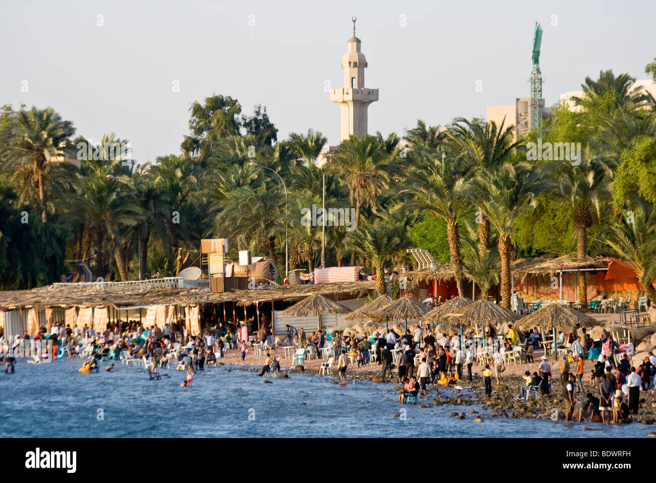 Beach in Aqaba Jordan - Stock Image