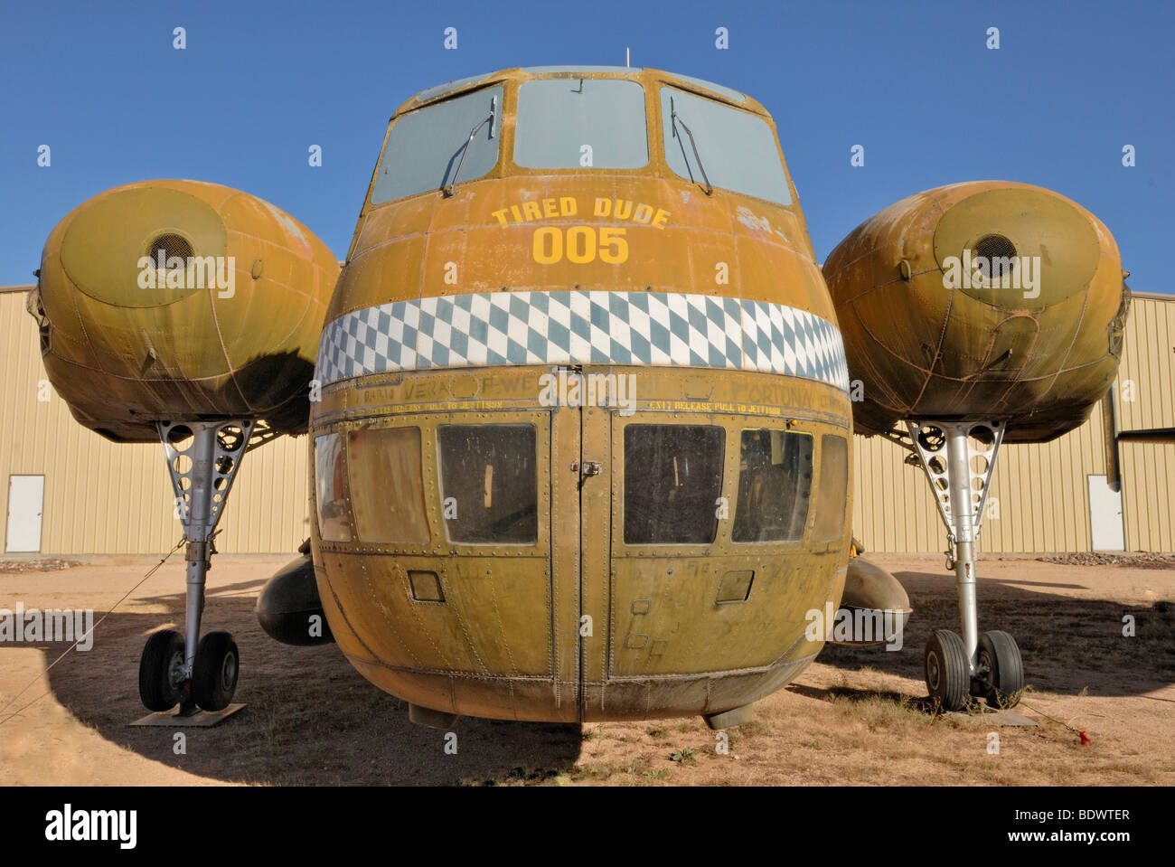 Sikorsky H 37 B Mojave, the largest transport helicopter in the U.S. Army, 1953-1965, Pima Air and Space Museum, - Stock Image