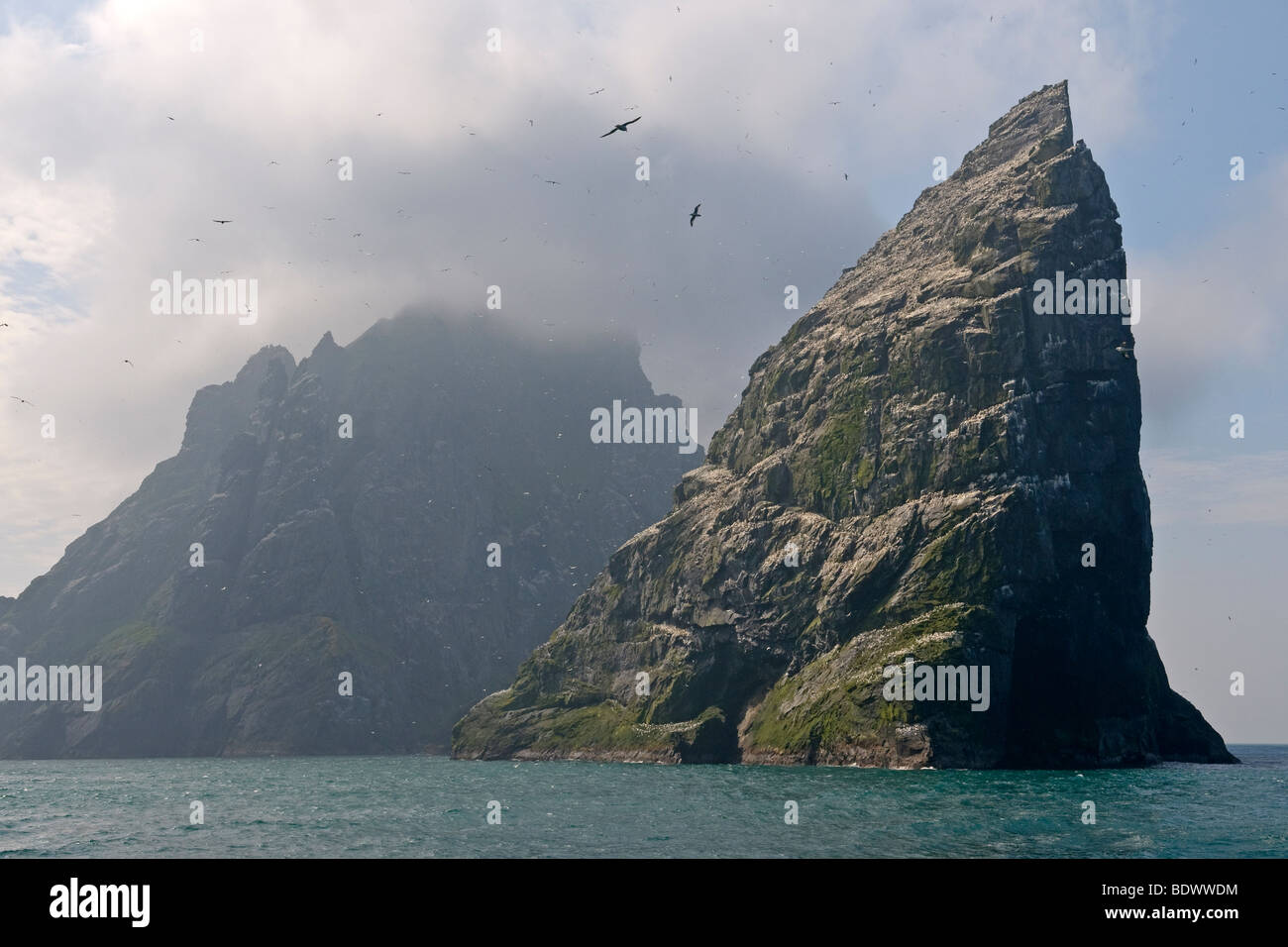 Islands of Stac an Armin and Boreray in the Saint Kilda archipelago, Scotland. - Stock Image