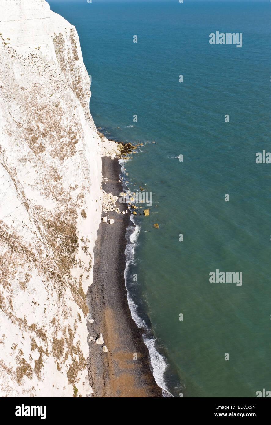 The White Cliffs, Langdon Cliffs, Dover, Kent, UK - Stock Image