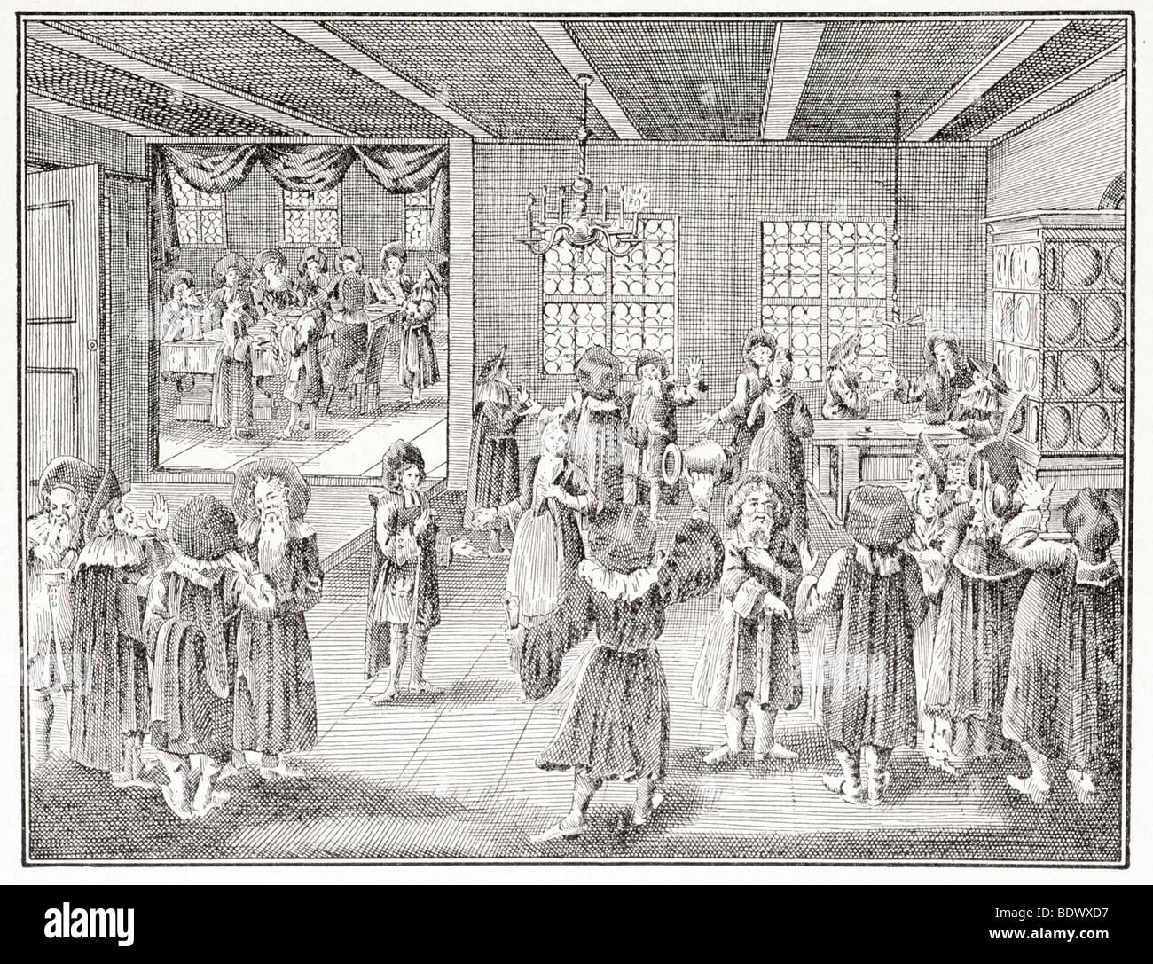 jewish betrothal scene at nuremberg - Stock Image