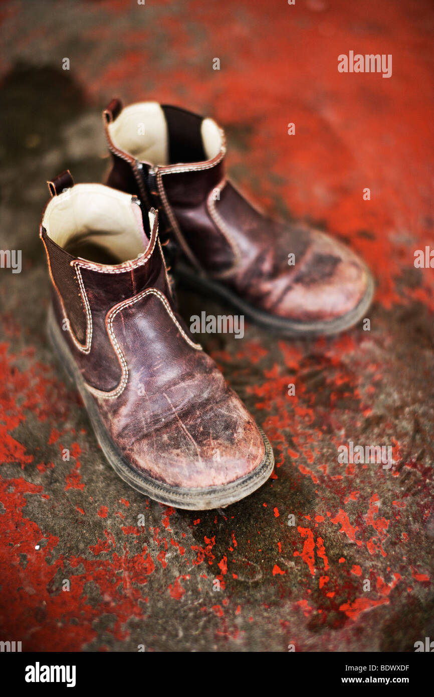 Boys boots - Stock Image