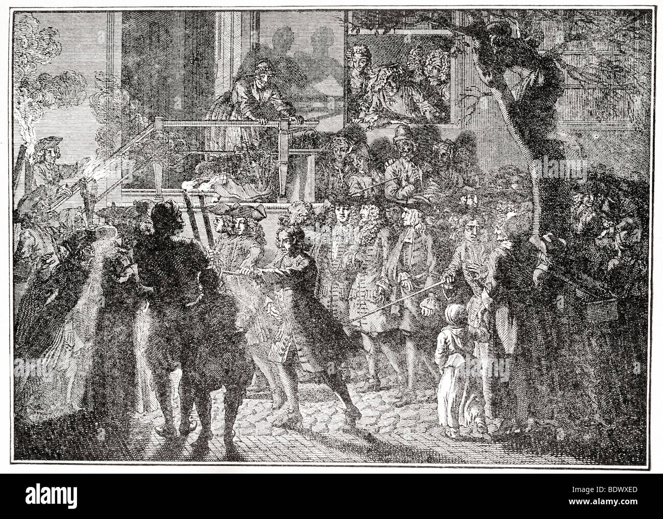 procession of bridegroom of the law on the eve of the rejoicing of the law - Stock Image