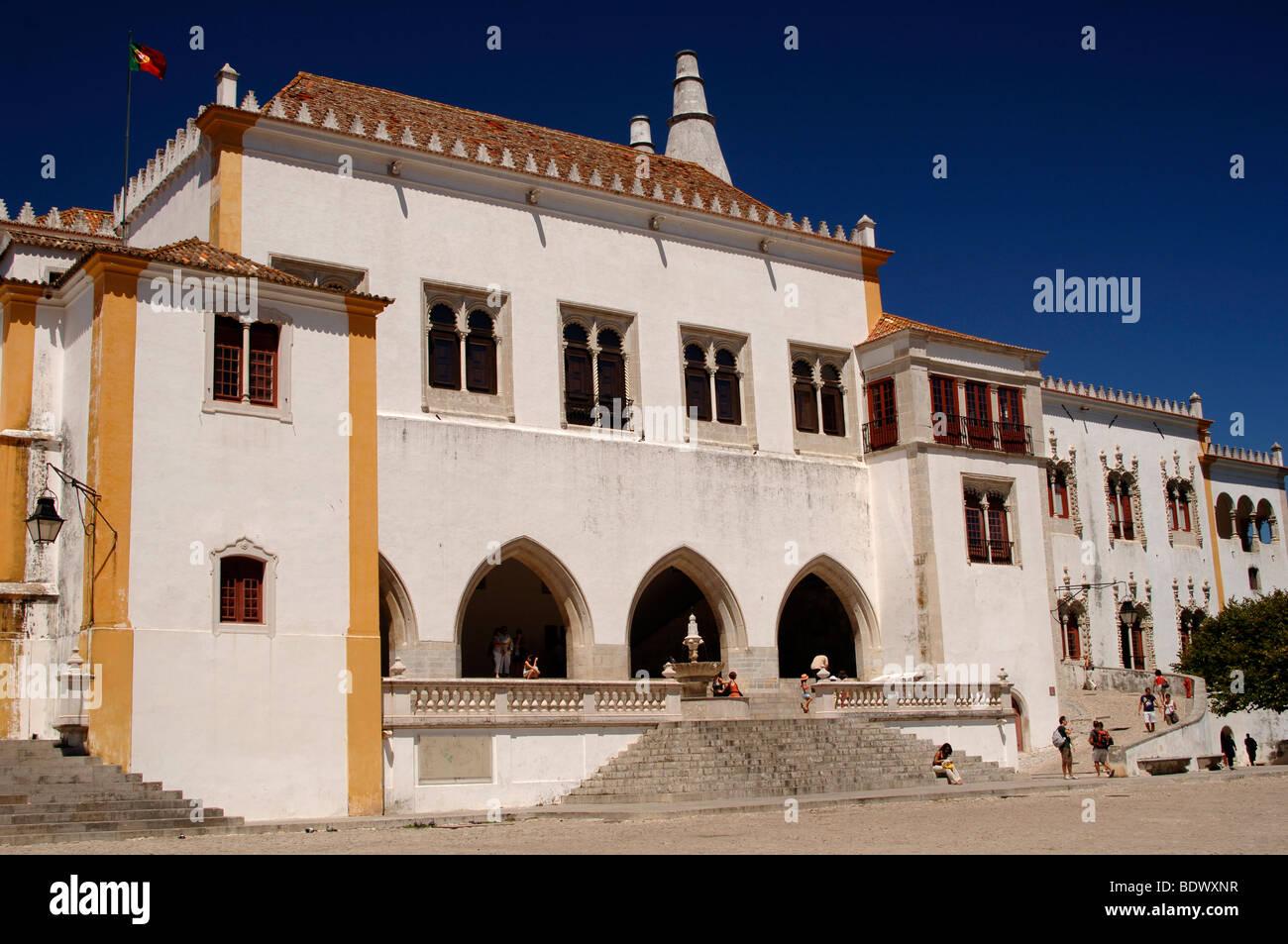 Palacio Nacional Sintra Portugal - Stock Image