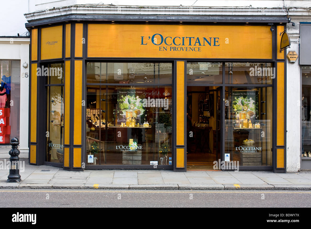 L'Occitane En Provence shop front, King's Road - Stock Image