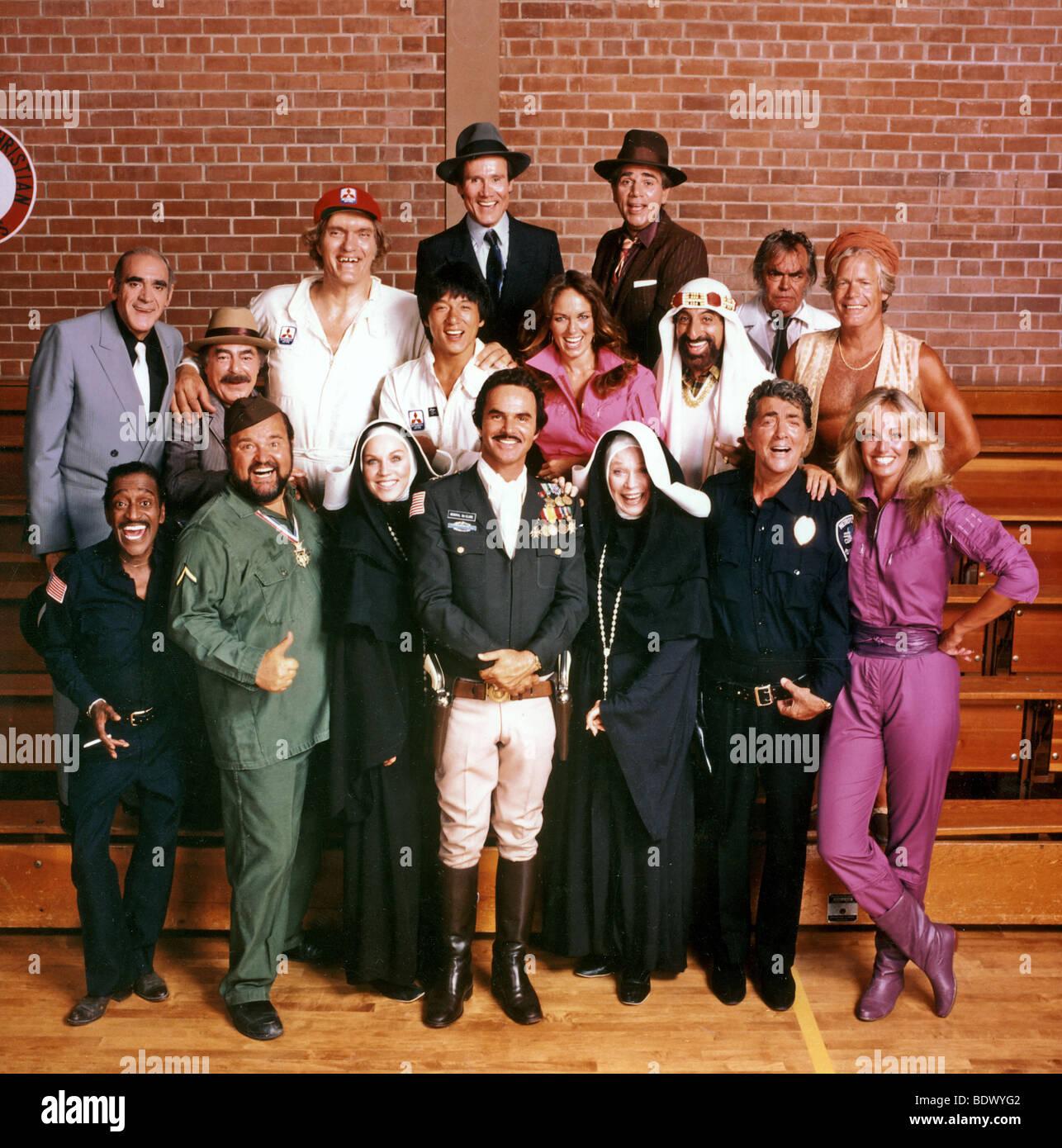 THE CANNONBALL RUN - 1980 Golden Harvest film with Sammy Davis Jnr, Burt Reynolds,  Dean Martin Farrah Fawcett - Stock Image