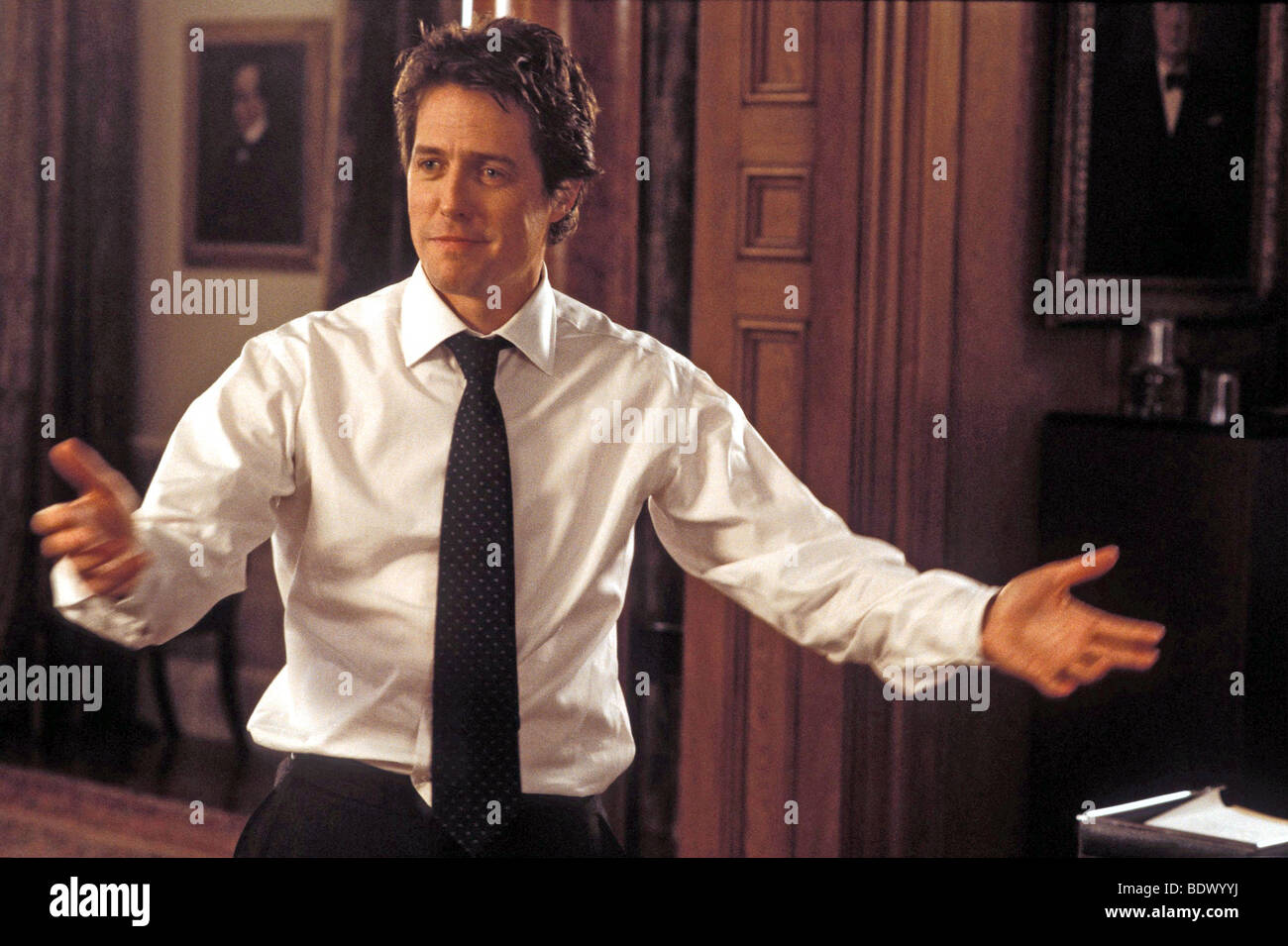 LOVE ACTUALLY  2003 Universal film with Hugh Grant as the Prime Minister - Stock Image