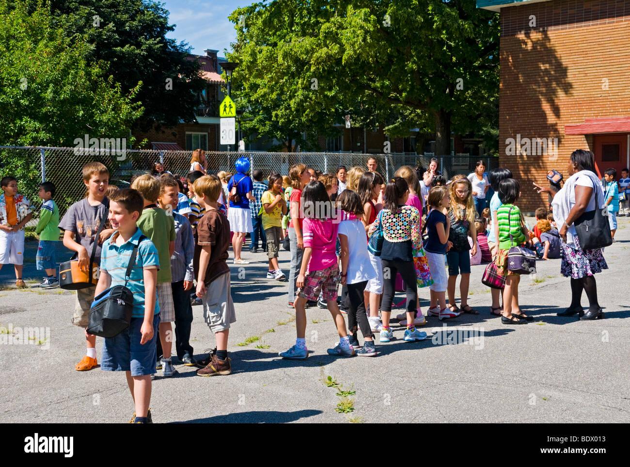 School Montreal, Quebec, Canada - Stock Image