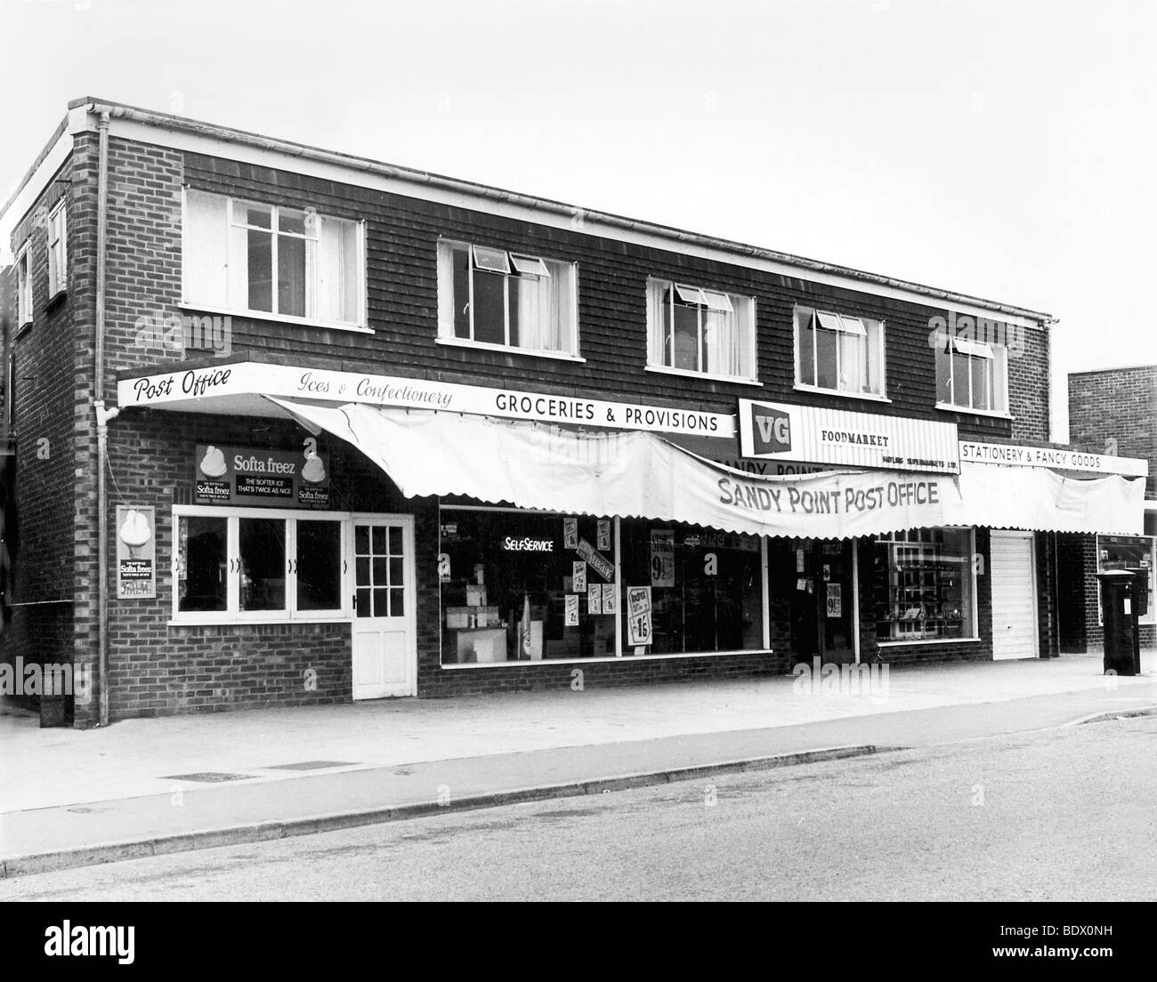 BEATLES : Hayling Island Supermarket was bought by John Lennon for ex-Quarryman Pete Shotton - photo taken in 1965 - Stock Image