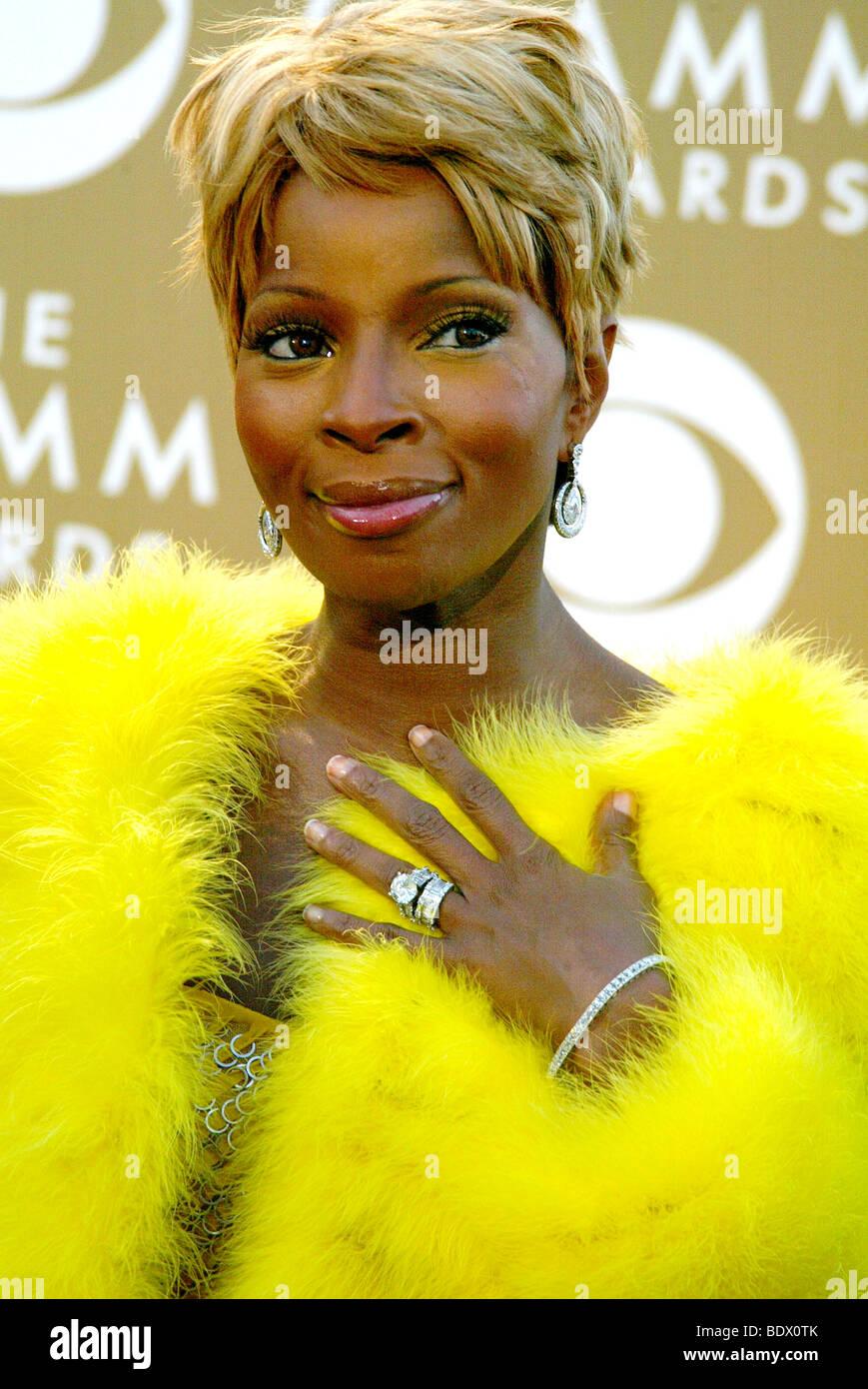 MARY J  BLIGE - #21;S singer - Stock Image