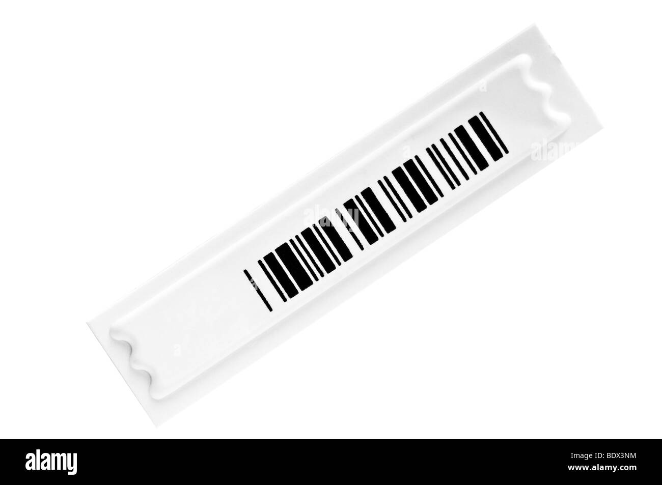 safety barcode lable isolated on white - Stock Image