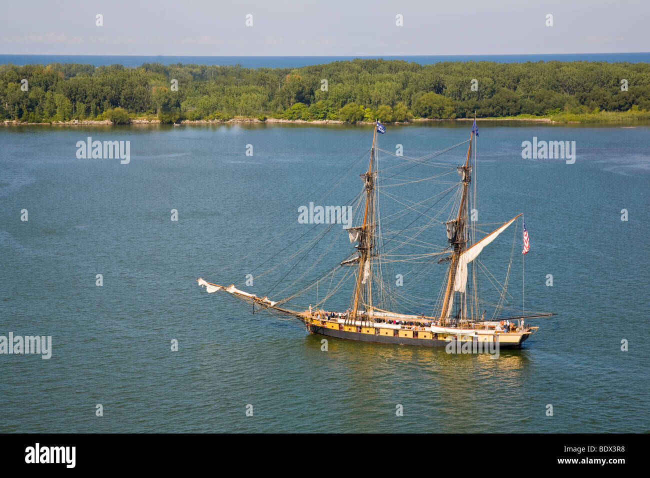 Flagship Niagara , US Brig Niagara in Erie Pennsylvania, United States - Stock Image