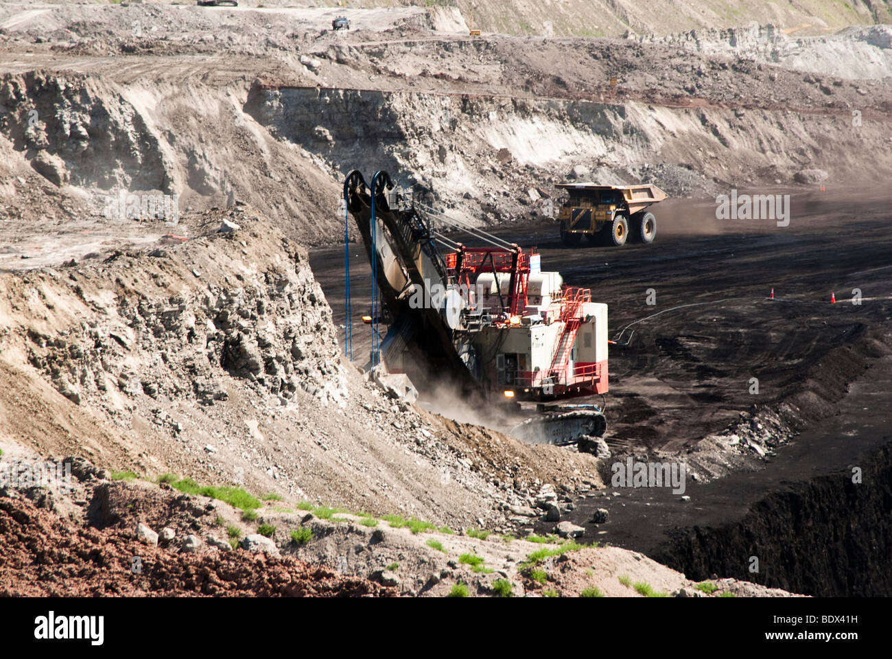 coal mining operations in Wyoming Stock Photo