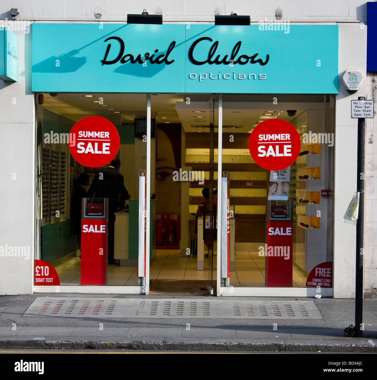 c712f9a11301 Front of David Clulow shop seen from King's Road - Stock Image