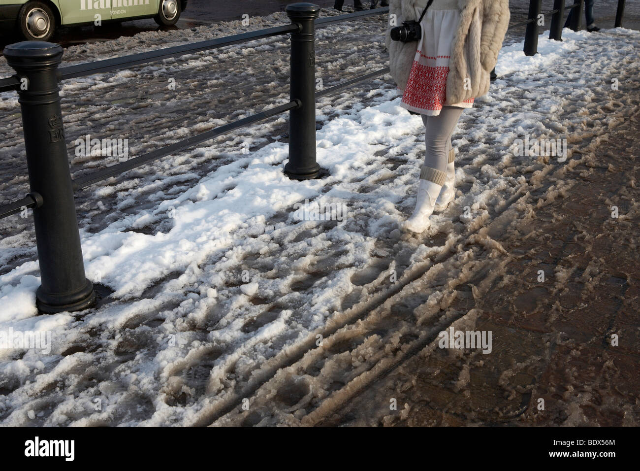 LONDON: SNOW - Stock Image
