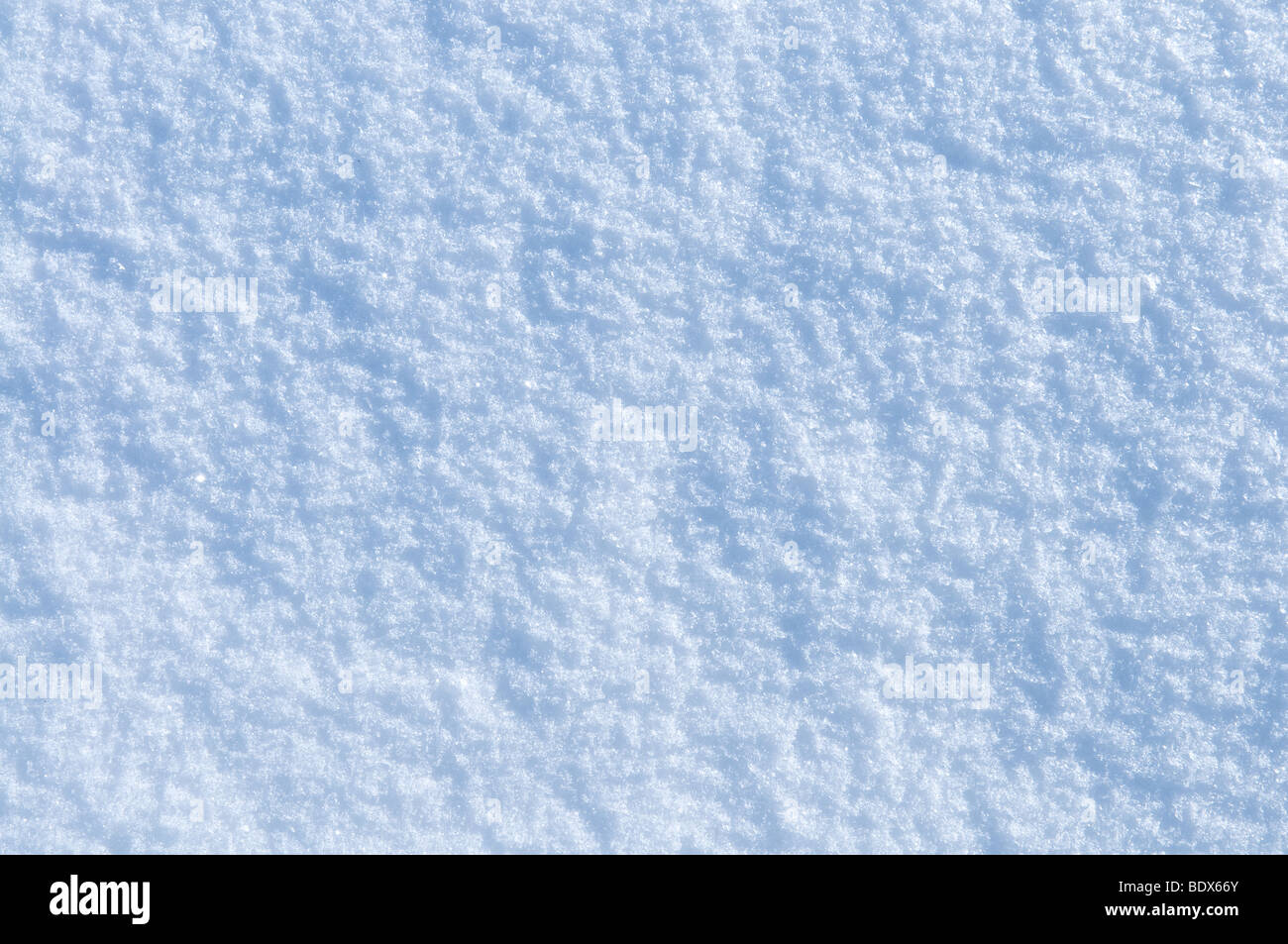 Natural fresh snow texture or background - Stock Image