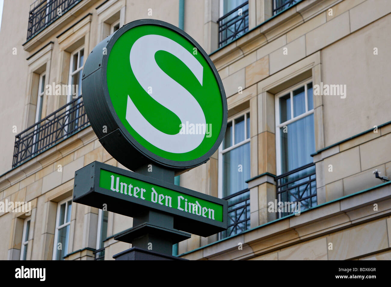 S-Bahn station, Unter den Linden boulevard, Berlin, Germany, Europe - Stock Image