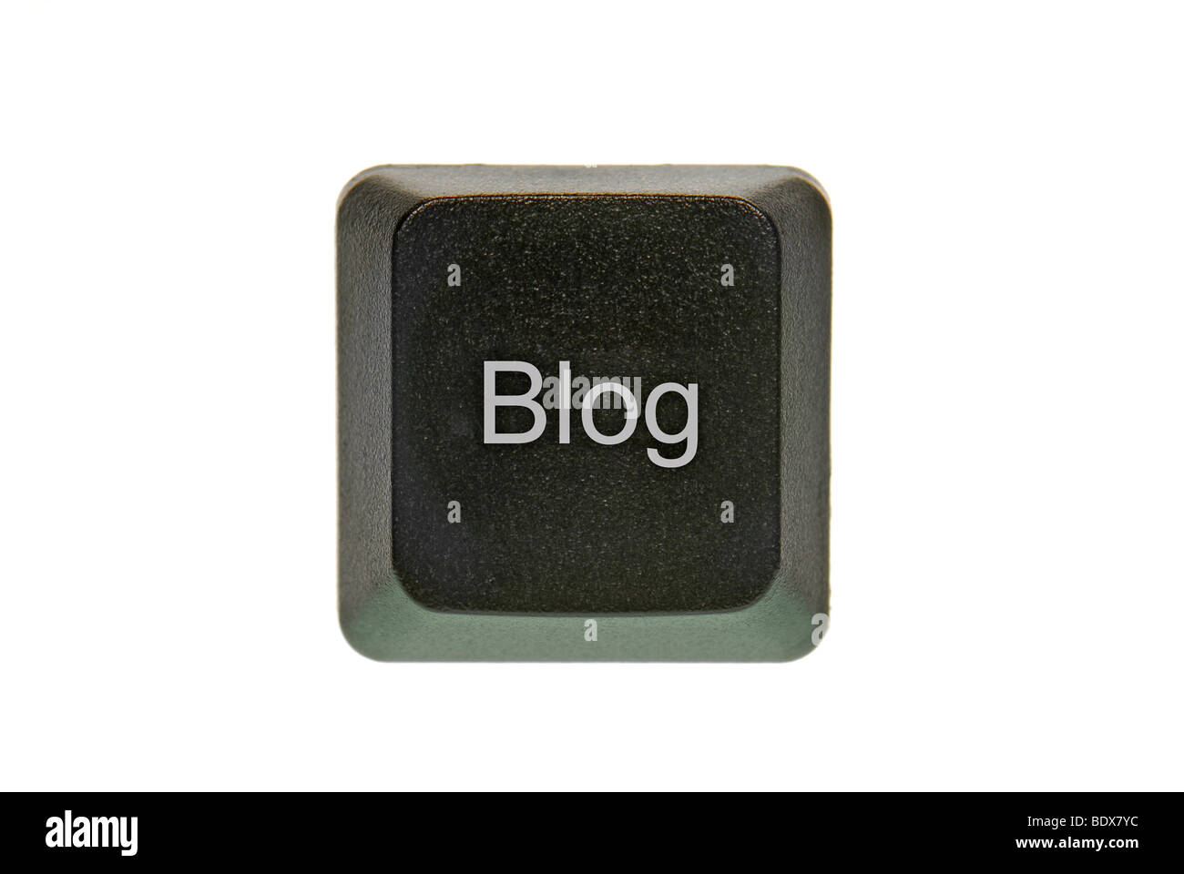 Computer key with inscription Blog - Stock Image