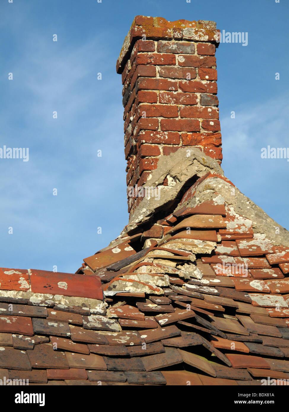 chimney pot on old roof stock photo: 25777958 - alamy