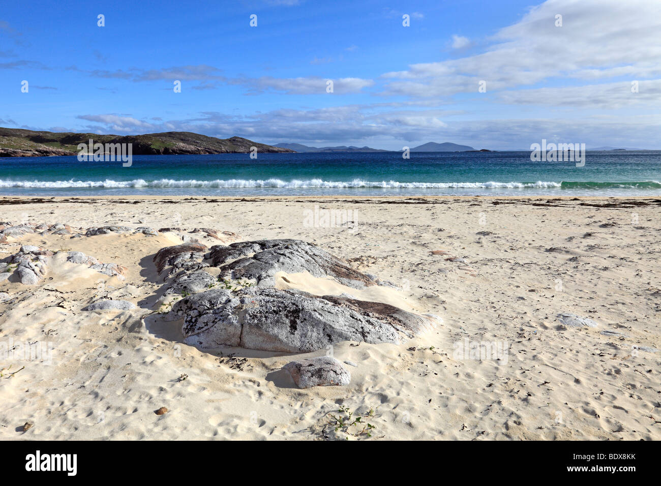 Husinish beach, Isle of Harris, Outer Hebrides, Scotland - Stock Image