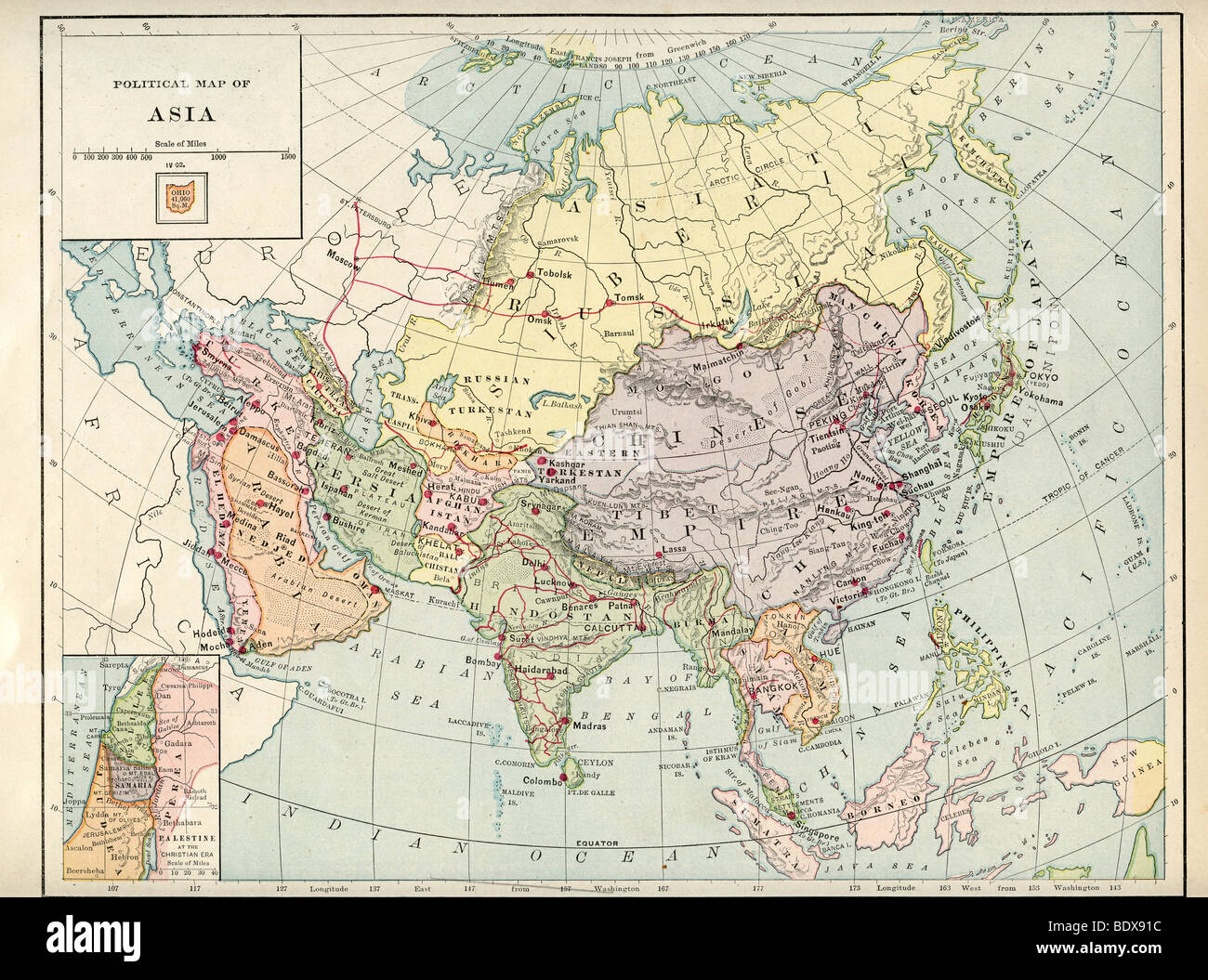 Original old map of asia from 1875 geography textbook stock photo original old map of asia from 1875 geography textbook publicscrutiny Gallery