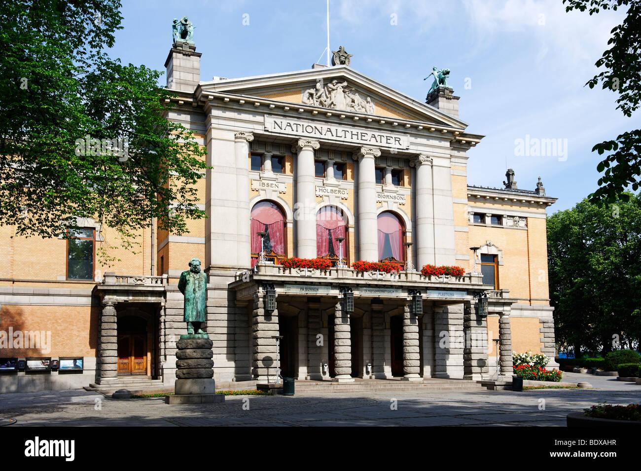 National Theatre, Oslo, Norway, Scandinavia, Europe Stock Photo