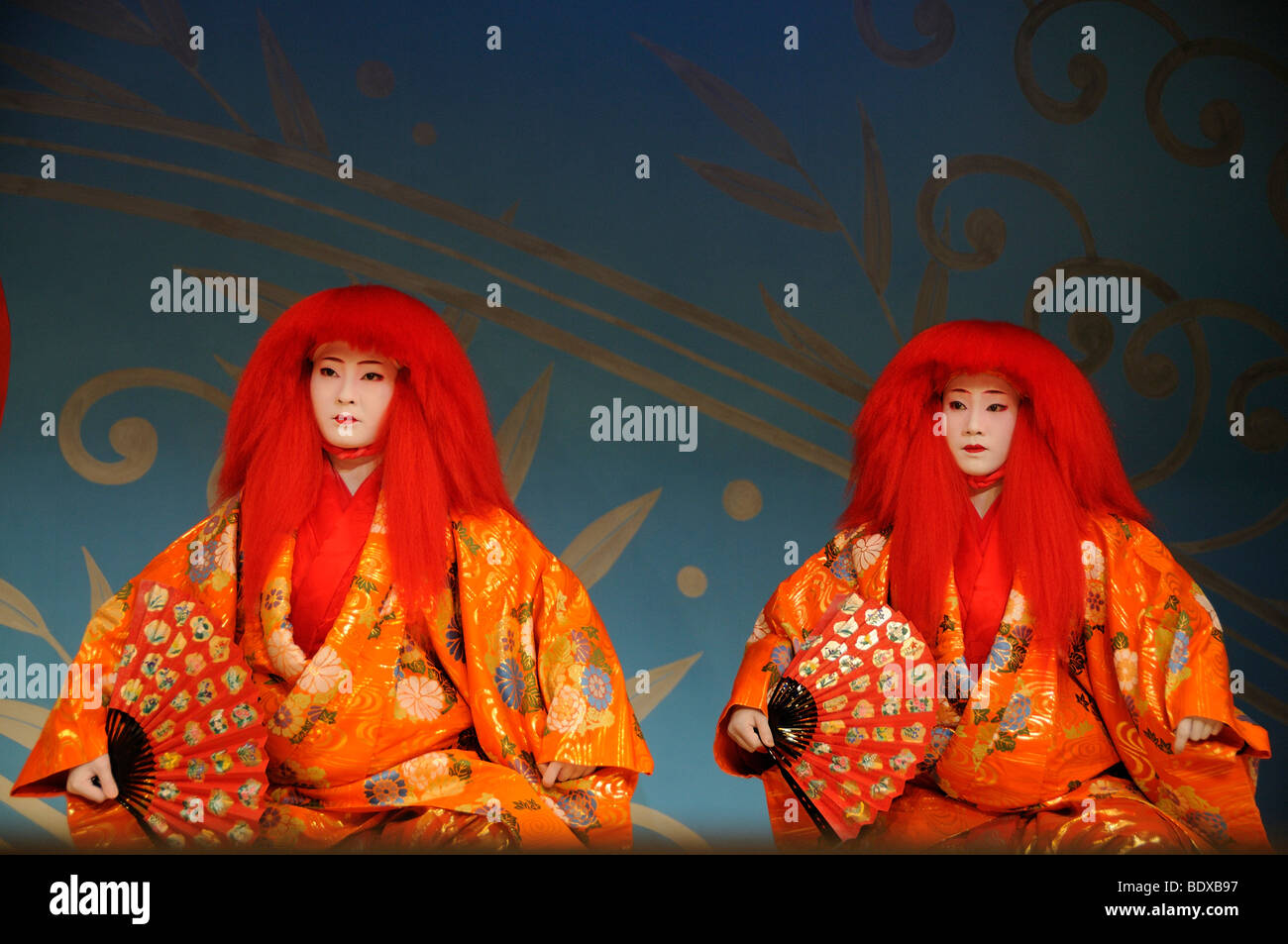Miyako-Odori, Maiko dance by Geisha candidates in spring, Gion District, Kyoto, Japan, Asia - Stock Image