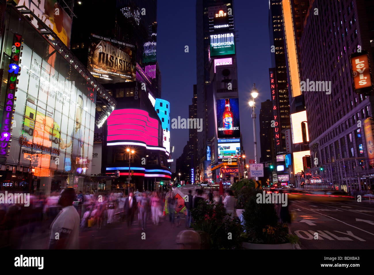 Times Square - New York City - Stock Image