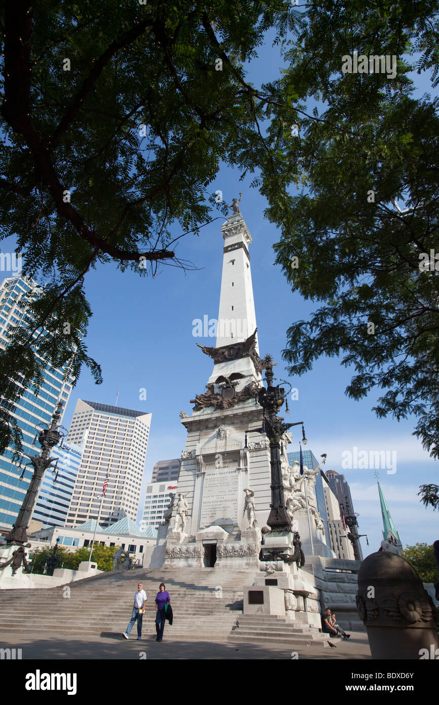Indianapolis, Indiana - The Soldiers & Sailors Monument. - Stock Image