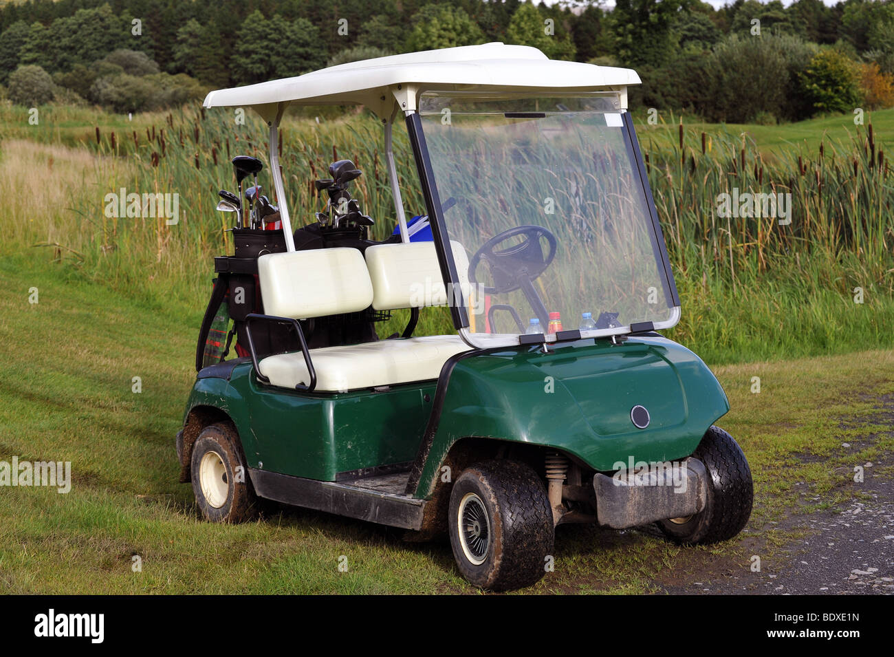Small buggy for playing on a golf course. - Stock Image