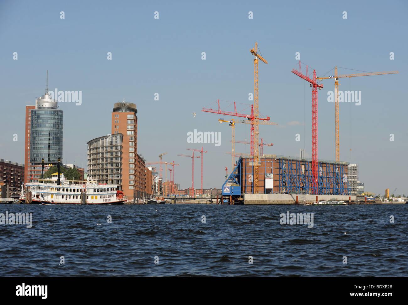 Elbphilharmonie under construction in the harbor /Hafencity of Hamburg, Germany, July 30, 2008. - Stock Image