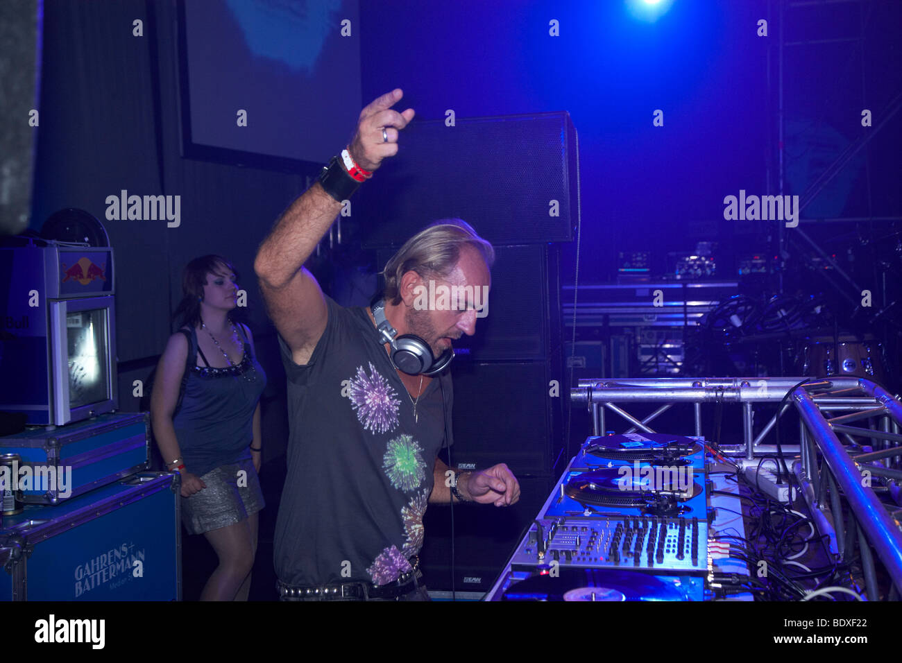 Techno Nature One Festival 2009, DJ Sven Vaeth, Kastellaun, Rhineland-Palatinate, Germany, Europe - Stock Image