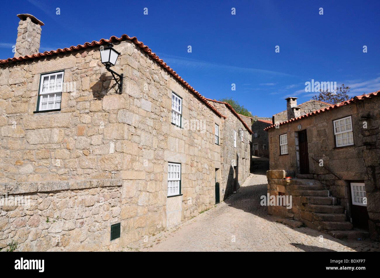 Houses, Historic village of Sortelha, Portugal - Stock Image